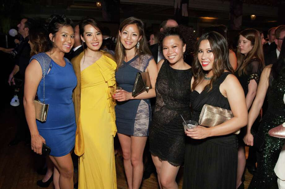 Nisha Basi, Jane Yu, Veronica Lee, Dori Caminong and Diane Romaldez at the GLIDE Legacy Gala in San Francisco on July 26, 2014. Photo: Drew Altizer Photography/SFWIRE, Drew Altizer Photography / © 2014 Drew Altizer