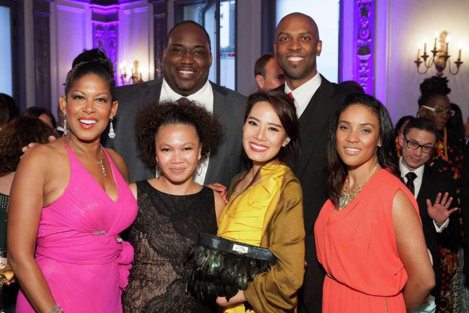 Kiwoba Allaire, Chris Garnder Jr., Dori Caminong, Jane Yu, Loius Stewart and Christina Pallome at the GLIDE Legacy Gala in San Francisco on July 26, 2014. Photo: Drew Altizer Photography/SFWIRE, Drew Altizer Photography / © 2014 Drew Altizer