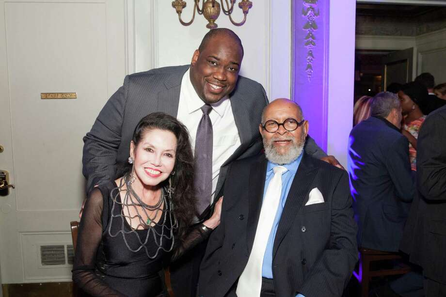 Janice Mirikitani, Chris Gardner Jr. and Rev. Cecil Williams at the GLIDE Legacy Gala in San Francisco on July 26, 2014. Photo: Drew Altizer Photography/SFWIRE, Drew Altizer Photography / © 2014 Drew Altizer