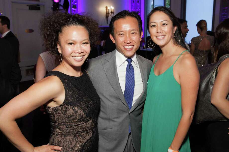 Dori Caminong, David Chiu and Candace Chen at the GLIDE Legacy Gala in San Francisco on July 26, 2014. Photo: Drew Altizer Photography/SFWIRE, Drew Altizer Photography / © 2014 Drew Altizer
