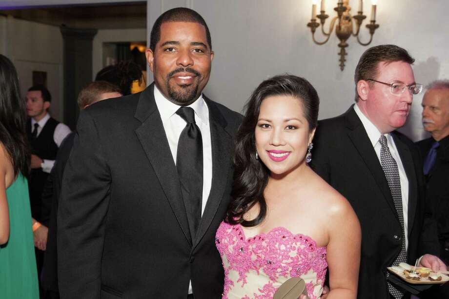 Leon Gilmore and Keesa Ocampo at the GLIDE Legacy Gala in San Francisco on July 26, 2014. Photo: Drew Altizer Photography/SFWIRE, Drew Altizer Photography / © 2014 Drew Altizer