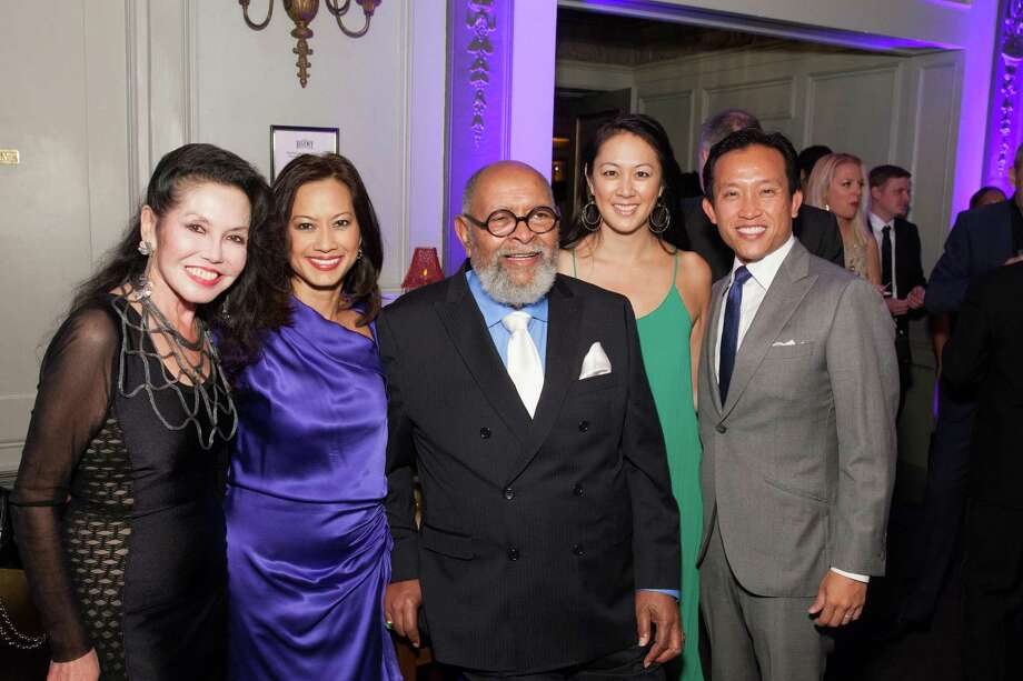 Janice Mirikitani, Thuy Vu, Rev. Cecil Williams, Candace Chen and David Chiu at the GLIDE Legacy Gala in San Francisco on July 26, 2014. Photo: Drew Altizer Photography/SFWIRE, Drew Altizer Photography / © 2014 Drew Altizer