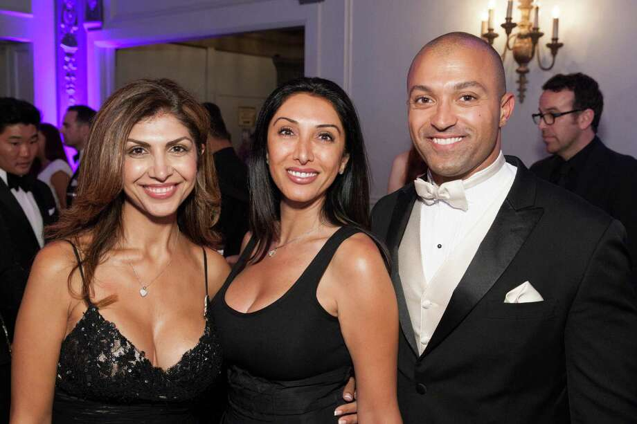 Fatima Erlandson, Farnas Farahani and Faham Zakariaei at the GLIDE Legacy Gala in San Francisco on July 26, 2014. Photo: Drew Altizer Photography/SFWIRE, Drew Altizer Photography / © 2014 Drew Altizer