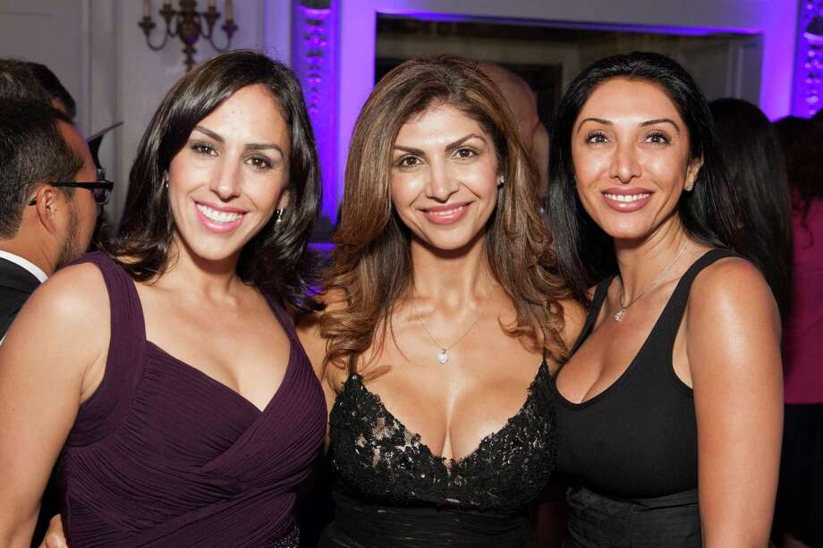 Maria Contente, Fatima Erlandson and Farnas Farahani at the GLIDE Legacy Gala in San Francisco on July 26, 2014. Photo: Drew Altizer Photography/SFWIRE, Drew Altizer Photography / © 2014 Drew Altizer