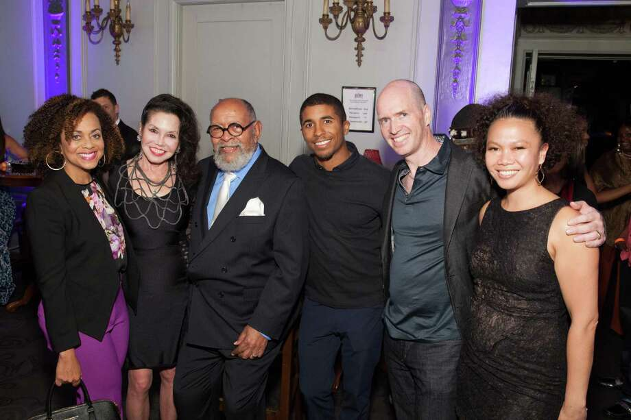 Felicia Horowitz, Janice Mirikitani, Rev. Cecil Williams, Chris Lyons, Ben Horowitz and Dori Caminong at the GLIDE Legacy Gala in San Francisco on July 26, 2014. Photo: Drew Altizer Photography/SFWIRE, Drew Altizer Photography / © 2014 Drew Altizer