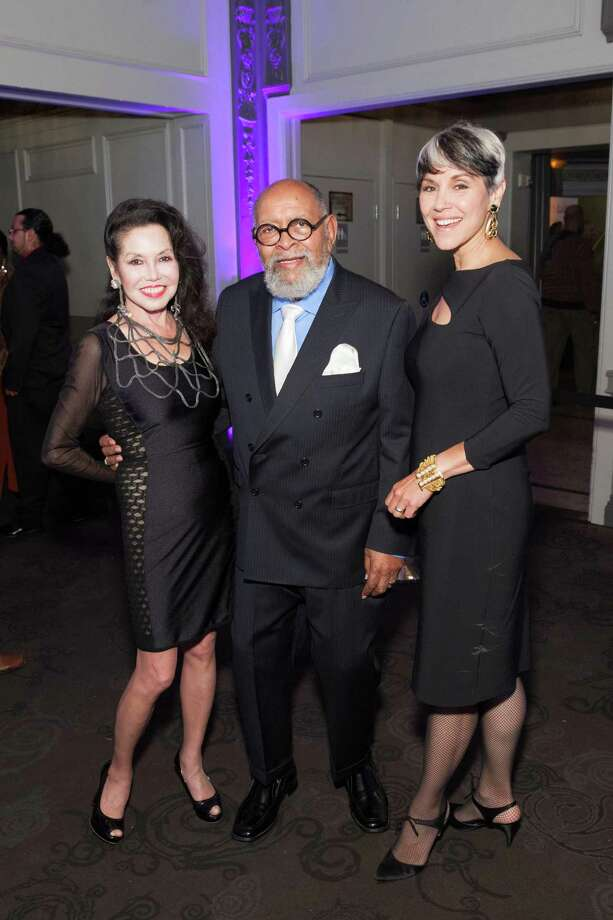 Janice Mirikitani, Rev. Cecil Williams and Doniece Sandoval at the GLIDE Legacy Gala in San Francisco on July 26, 2014. Photo: Drew Altizer Photography/SFWIRE, Drew Altizer Photography / © 2014 Drew Altizer