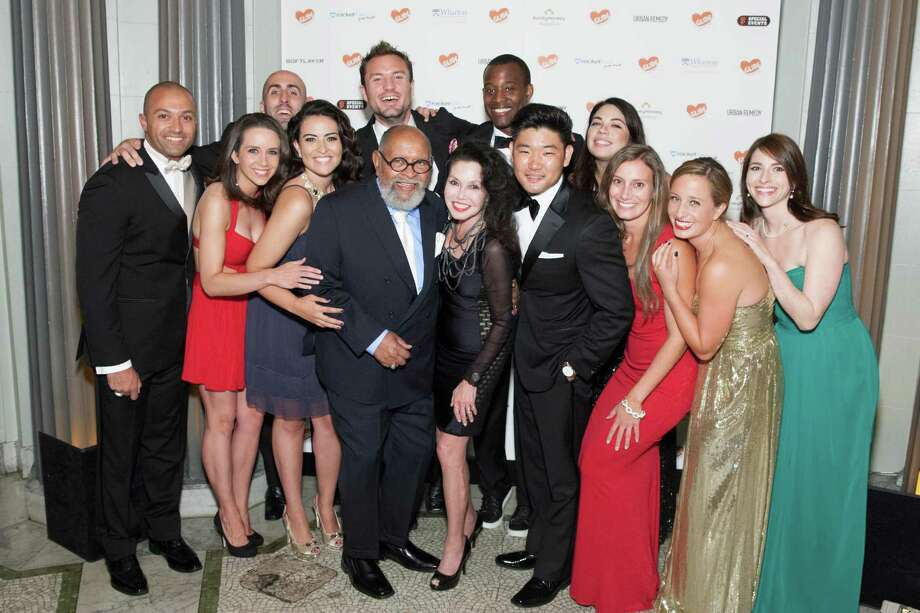 Faham Zakariaei, Laura Thompson, David Bettencourt, Gabriella Chavez Lopez, Colson Griffith, Rev. Cecil Williams, Janice Mirikitani, Earnest Sweat, Mike Kim, Amy Garnder, Casey Lary and Rebecca Sanchez at the GLIDE Legacy Gala in San Francisco on July 26, 2014. Photo: Drew Altizer Photography/SFWIRE, Drew Altizer Photography / © 2014 Drew Altizer