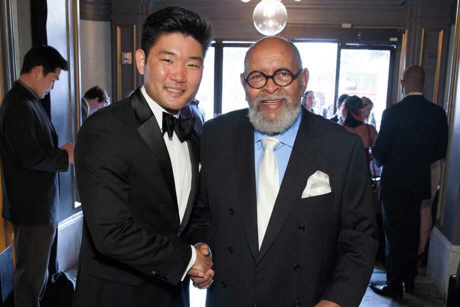 Mike Kim and Rev. Cecil Williams at the GLIDE Legacy Gala in San Francisco on July 26, 2014. Photo: Drew Altizer Photography/SFWIRE, Drew Altizer Photography / © 2014 Drew Altizer