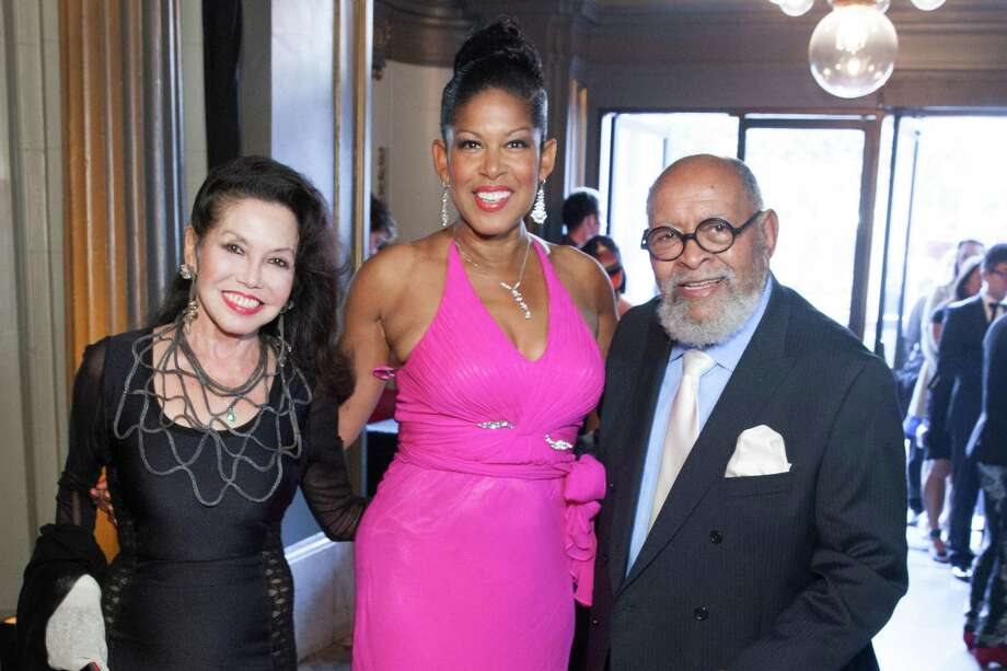 Janice Mirikitani, Kiwoba Allaire and Rev. Cecil Williams at the GLIDE Legacy Gala in San Francisco on July 26, 2014. Photo: Drew Altizer Photography/SFWIRE, Drew Altizer Photography / © 2014 Drew Altizer