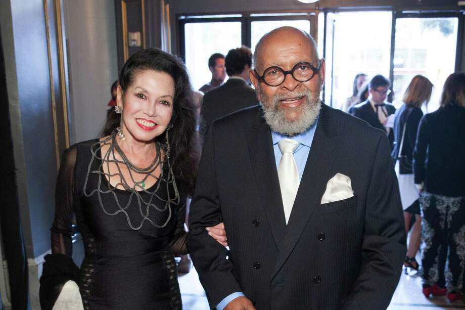 Janice Mirikitani and Rev. Cecil Williams at the GLIDE Legacy Gala in San Francisco on July 26, 2014. Photo: Drew Altizer Photography/SFWIRE, Drew Altizer Photography / © 2014 Drew Altizer