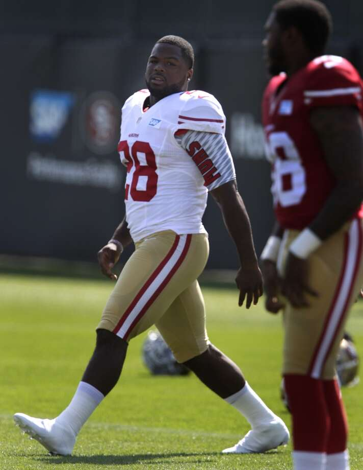 Rookie running back Carlos Hyde, a 2nd round draft pick out of Ohio State, stretches during the San Francisco 49ers training camp in Santa Clara, Calif. on Tuesday, July 29, 2014. Photo: The Chronicle