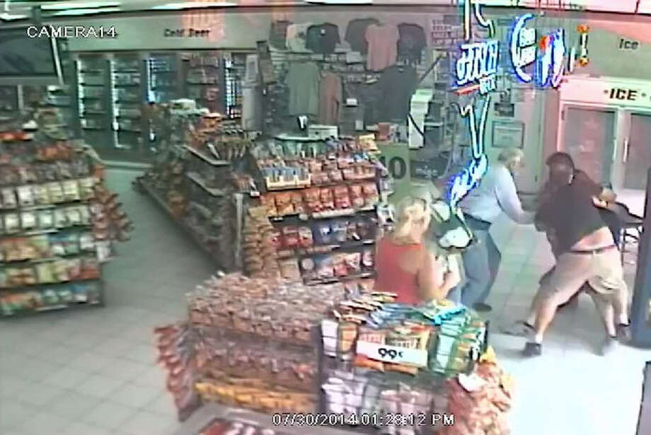 CLERK CHOKES OUT ATTEMPTED ROBBER:A Citgo convenience store clerk thwarted an attempted robbery of cellphones from his Fort Bend County store when he put a choke hold on one of the three suspects and refused to let go until a third suspect threatened to kill him.SEE THE VIDEO: Store clerk chokes out would-be robber Photo: Fort Bend County Crime Stoppers