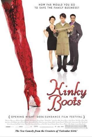 """Kinky Boots"" - After inheriting a shoe factory, Charlie Price aims to take the fashion world by storm with help from a flashy cabaret dancer named Lola, who helps him design a racy line of men's boots. Available Aug. 1 Photo: Handout"