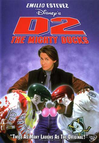 """D2: The Mighty Ducks"" - The Ducks return to the ice, and Gordon Bombay is once again leading his old team, plus a number of new faces, as the loveable underdogs of the puck face off against competitors at the Junior Goodwill Games in Hollywood. Available Aug. 1 Photo: Handout"
