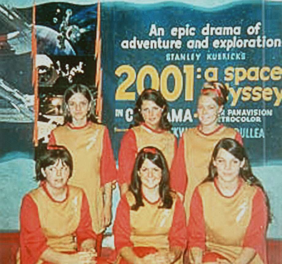 "Cinerama ushers wore futuristic garb of the local premiere of ""2001: A Space Odyssey"" in 1968.  Photo: HANDOUT, P-I File"