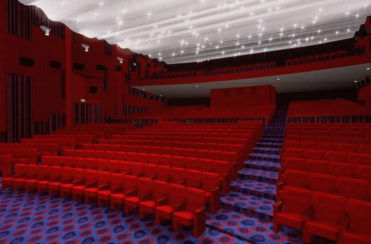 The Cinerama's recognizable red seats.