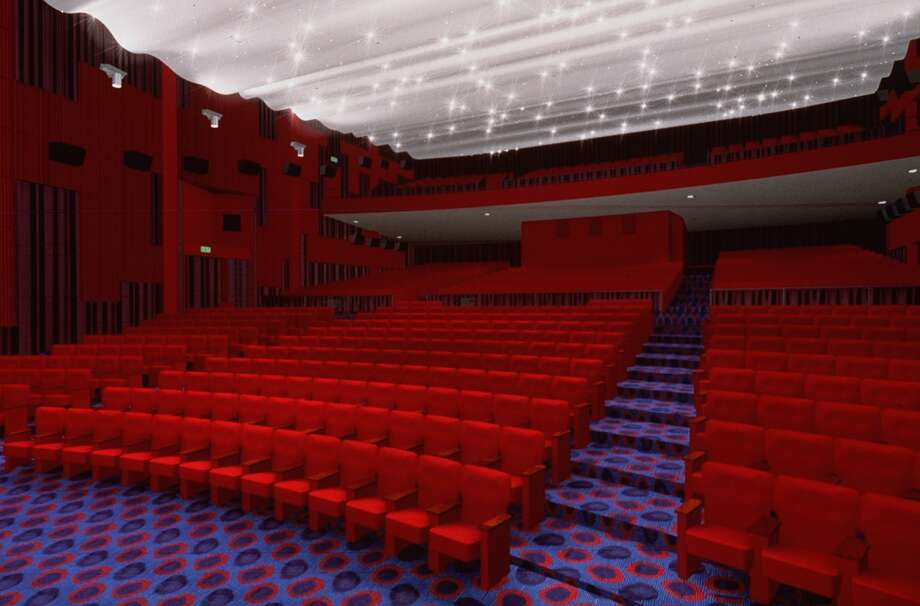 The Cinerama's recognizable red seats. Photo: BOORA ARCHITECTS, P-I File
