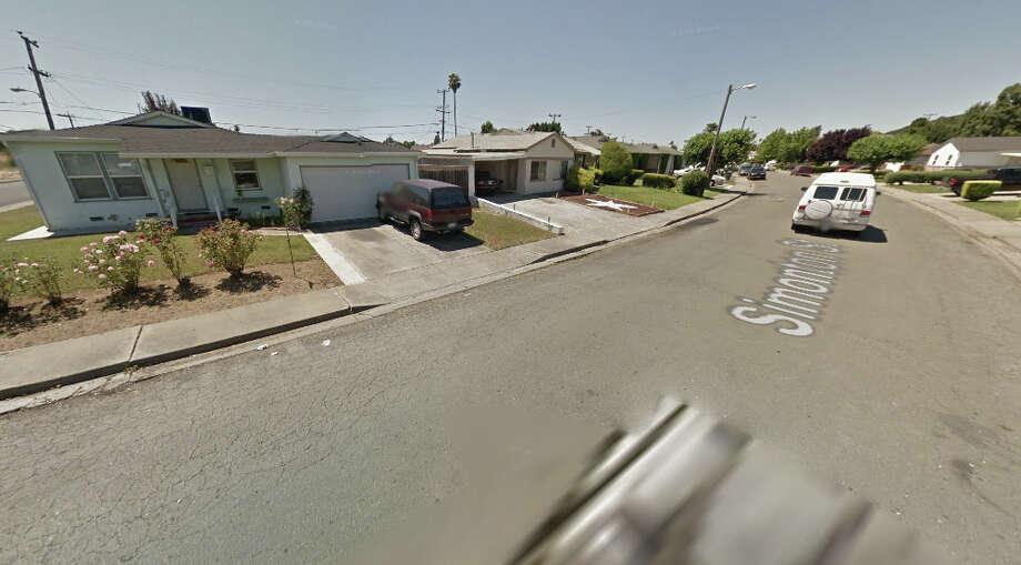 100 block of Simonton Street, Vallejo, CA Photo: Google Maps