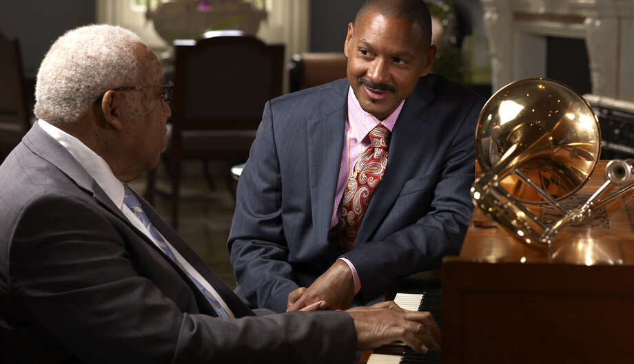 Ellis, left, and Delfeayo Marsalis (Tanglewood)