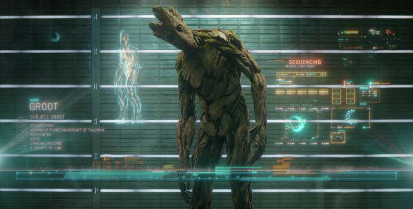 Marvel's Guardians Of The Galaxy Groot (voiced by Vin Diesel) Ph: Film Frame ÂMarvel 2014