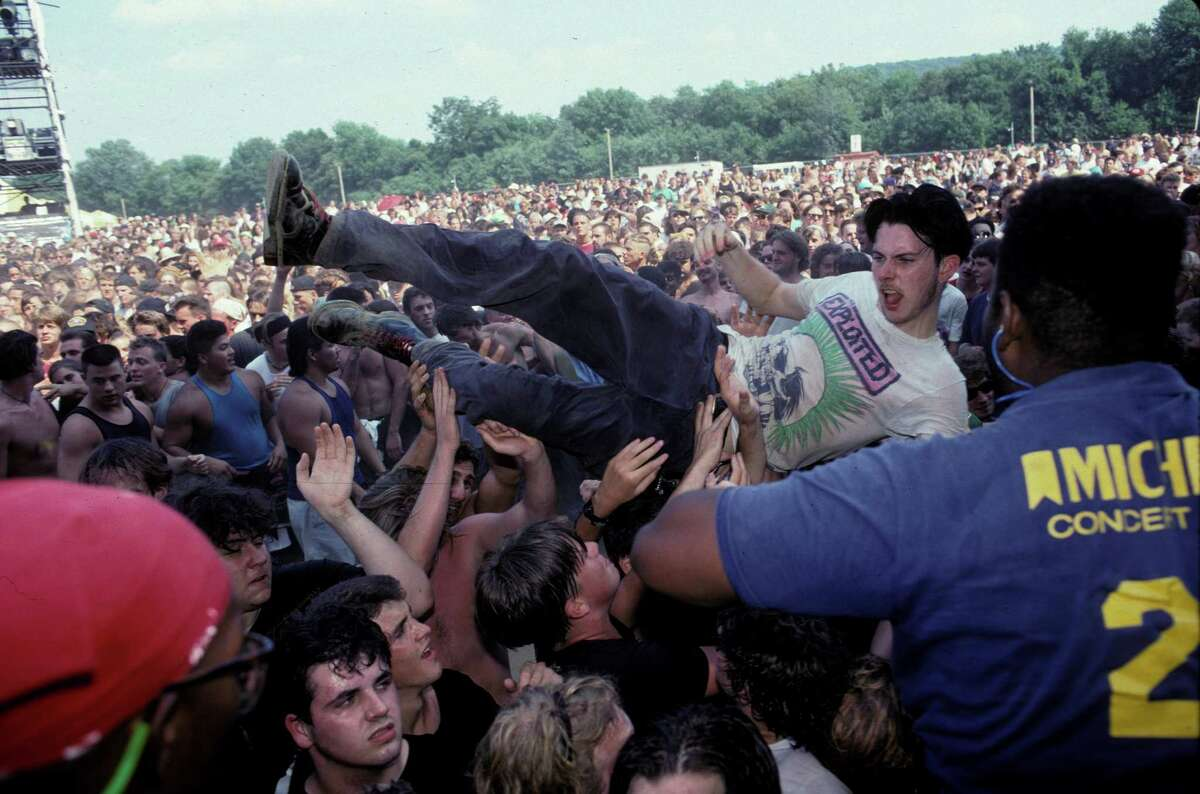 Lollapalooza 2014 takes place this weekend in Chicago. We decided to take a look back on the history of the music festival just to make sure it was as wild and fun back then as it is today. 1991 UNITED STATES - JANUARY 01: USA Photo of LOLLAPALOOZA, Fans crowd surfing at the Lollapalooza concert in Waterloo Village, New Jersey August 14th, 1991 (Photo by Ebet Roberts/Redferns)