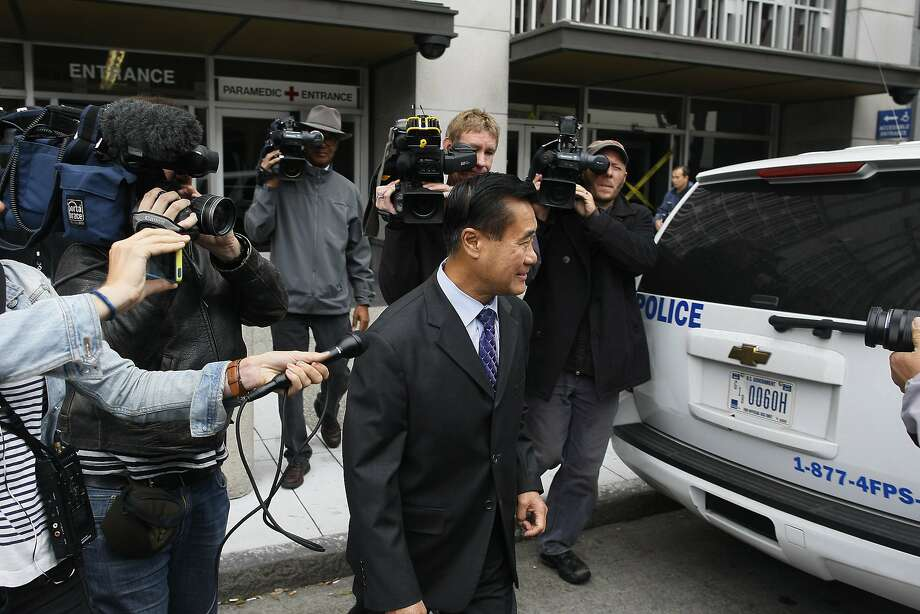 Leland Yee exits federal court after his arraignment on Thursday, July 31, 2014 in San Francisco, Calif. Yee was arraigned for racketeering charges. Photo: James Tensuan, The Chronicle