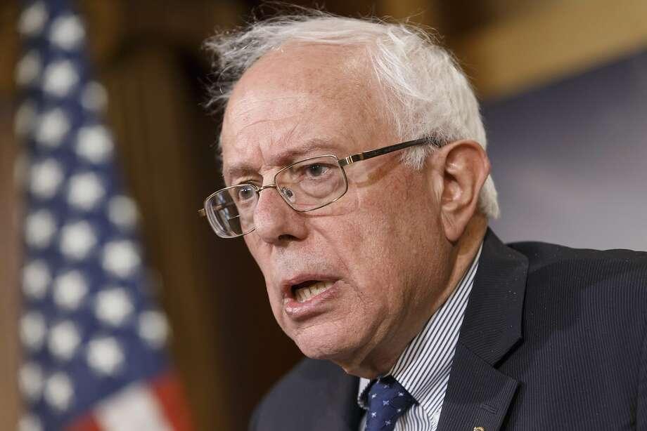Sen. Bernie Sanders Photo: J. Scott Applewhite, Associated Press