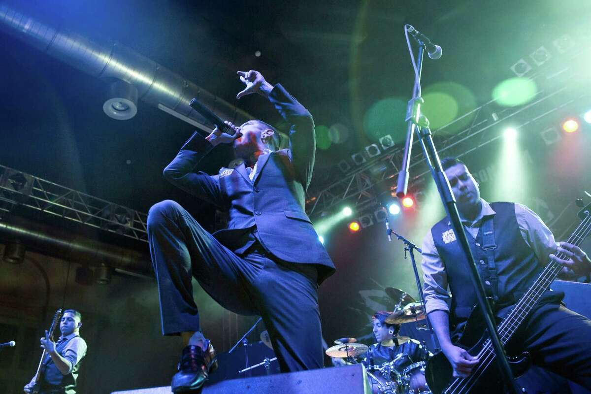 """Singer Danny Leal leads Upon a Burning Body, which performs a genre of metal called """"deathcore."""""""