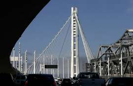 The Eastern section of the San Francisco Oakland Bay Bridge as seen from the Treasure Island tunnel on Tuesday July 22, 2014, in Oakland, Calif.