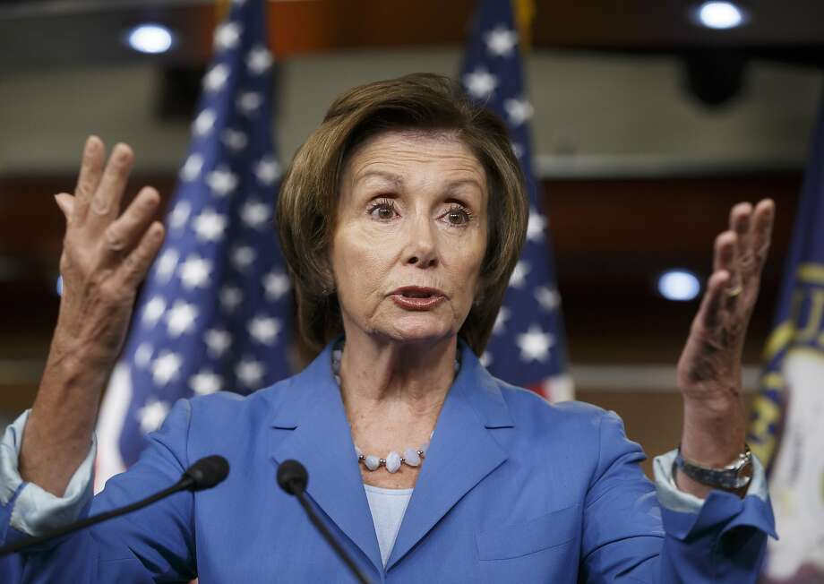 "House Minority Leader Nancy Pelosi, D-San Francisco, accused Republicans of ""throwing red meat to their base"" by focusing on border security rather than humanitarian relief. Photo: J. Scott Applewhite, Associated Press"