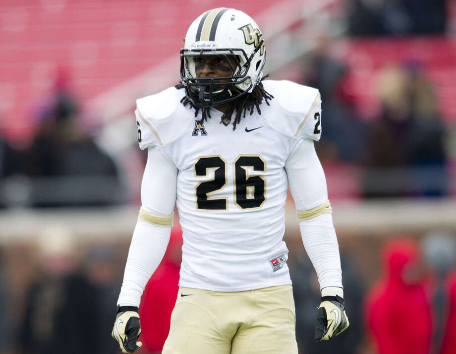 Safety Clayton Geathers is part of a strong defensive backfield that could keep UCF from suffering a big drop-off in 2014. Photo: Cooper Neill / Getty Images / 2013 Cooper Neill