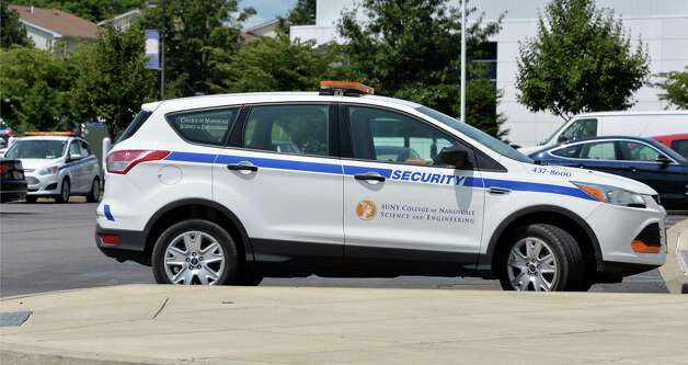 A security vehicle at the College of Nanoscale Science and Engineering of the State University of New York Wednesday, July 30, 2014, in Albany, N.Y. The SUNY College of Nanoscale Science and Engineering is getting its own police force, a move that comes as the college has separated from the nearby University at Albany. (John Carl D'Annibale / Times Union) Photo: John Carl D'Annibale / 00027995A