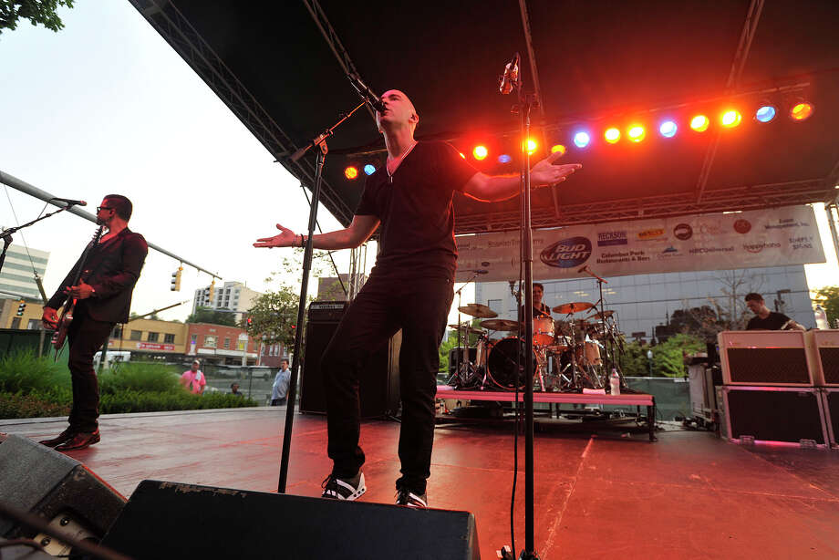 Ed Kowalczyk and his band performs on stage during Alive@Five in Columbus Park in Stamford, Conn., on Thursday, July 31, 2014. Hearst Connecticut Media Group is a sponsor of the event. Photo: Jason Rearick / Stamford Advocate