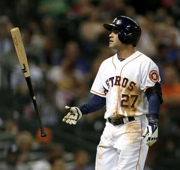 July 31: Blue Jays 6, Astros 5  Astros closer Chad Qualls gives up a game-winning home run in the top of the ninth inning as Toronto takes the opener of a four-game set.  Record: 44-65. Photo: Karen Warren, Houston Chronicle