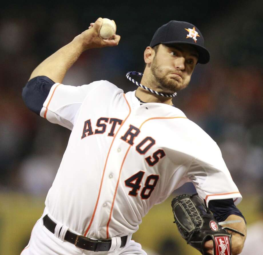 2014:   The Astros trade Jarred Cosart, Kike Hernandez and Austin Wates to the Miami Marlins in exchange for Jake Marisnick, Colin Moran, Francis Martes and a 2015 round A competitive balance draft pick. Photo: Melissa Phillip, Houston Chronicle