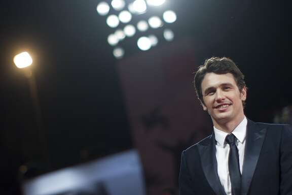 "FILE - In this Aug. 31, 2013 file photo, actor and director James Franco poses for photographers on the red carpet for the screening of the film ""Child Of God"" at the 70th edition of the Venice Film Festival in Venice, Italy. Rattlestick Playwrights Theater said Monday, June 16, 2014, that Franco will direct Robert Boswell's world premiere play ""The Long Shrift"" from July 7-Aug. 23. The off-Broadway job will coincide with Franco's current one on Broadway as an actor in ""Of Mice and Men."" (AP Photo/Andrew Medichini, File)"