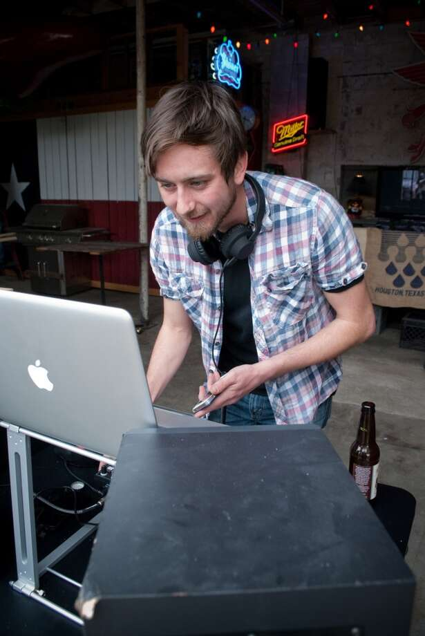 Zach Bowman - AKA DJ Gazebos - plays a Friday afternoon gig at the Banh Mon Renegade Street Food truck with local funk/soul/reggae DJ collective Son of Hot Damn. Photo: Cat5