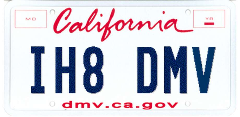 "Driver's explanation: None. DMV response: ""I hate DMV — I think funny :) but 'IH8DMV' is on record as unacceptable."""