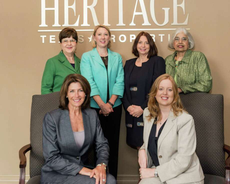 Members of Heritage Texas Properties' Corporate Services team are, left to right, Norma Chaney, Kirsten Abney, Alida Bonds, Ooma Lakshmanan; seated, left to right, Gina Schoener, Laura Jensen.