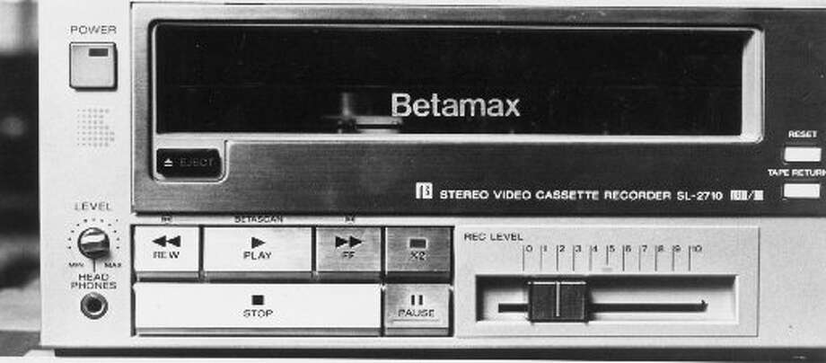 "1975 — Sony Betamax""The 1970s saw a war in home video formats between Betamax and VHS,"" wrote Business Insider. ""Sony made a mistake: It started selling the Betamax in 1975, while its rivals started releasing VHS machines. Sony kept Betamax proprietary, meaning that the market for VHS products quickly outpaced the company."" Photo: Los Angeles Times/Michael Edwards"