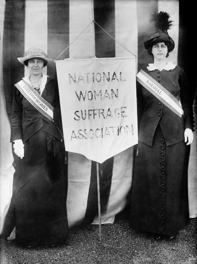 Although women did not get the vote until 1920 when an amendment was added to the U.S. Constitution, suffragettes were campaigning for women's rights in the mid to late 19th century. The National Woman Suffrage Association  was founded in 1869. Photo: Contributed Photo / Fairfield Citizen