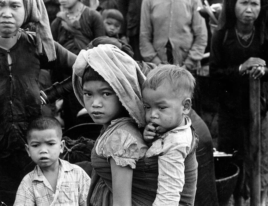 A group of Vietnamese refugees in 1970. Photo: Three Lions, Getty Images / Hulton Archive