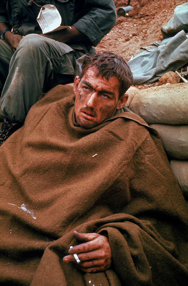 Wounded, dazed looking American soldier somewhere near the DMZ during the height of the Vietnam War, 1969. Photo: Larry Burrows, The LIFE Picture Collection/Gett / Time & Life Pictures