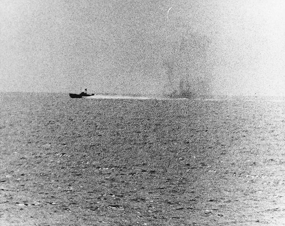 This photo provided by the US Navy shows a North Vietnamese motor torpedo boat attacking the USS Maddox, Aug. 2, 1964 in the Gulf of Tonkin. A spy-agency analysis released Thursday contends a second attack on the USS Maddox and the C. Turner Joy in the Gulf of Tonkin Aug. 4, 1964 never happened, casting further doubt on the leading rationale for escalation of the Vietnam War. Photo: Anonymous, ASSOCIATED PRESS / AP2005