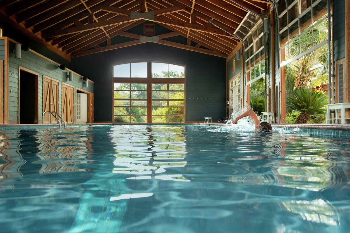 Lake Austin Spa Resort in Austin was voted No. 21 in Conde Nast Traveler's 2014 Readers Choice Awards. It was one of only two resorts in Texas to make the list. The resort's Pool Barn (one of the property's three pools) is shown here.