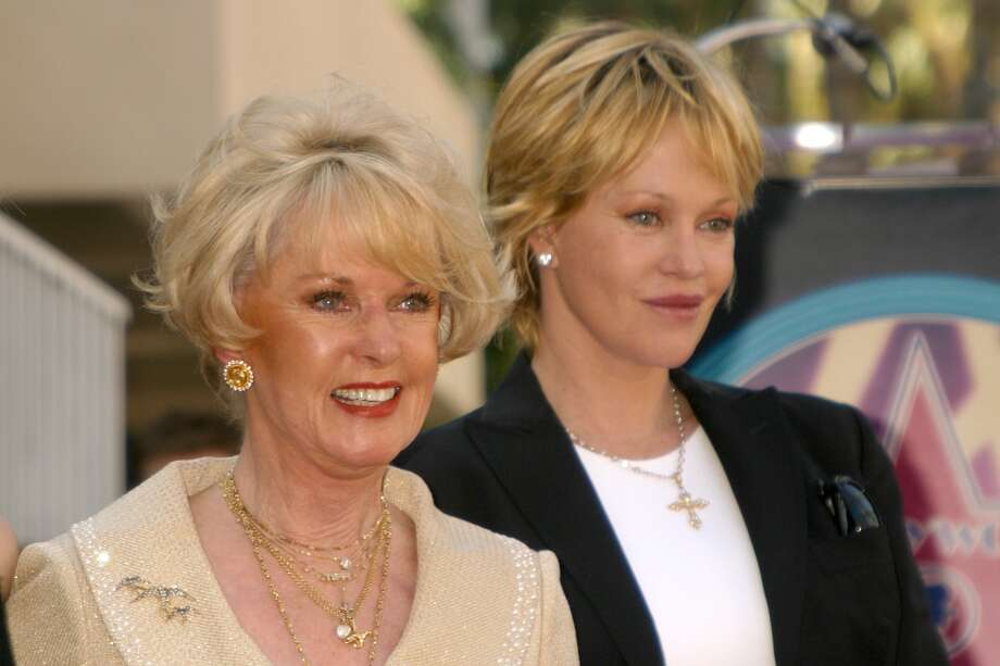 Fun fact: Tippy Hedren is actress Melanie Griffiths' mother. Here, the two are pictured in 2003 attending the dedication of a Star on the Hollywood Walk of Fame for Hedren in Hollywood.