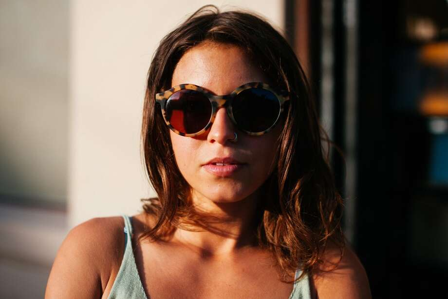 Brion, pictured outside NOPA, wearing D'Blanc sunglasses. Photo: William C Rittenhouse