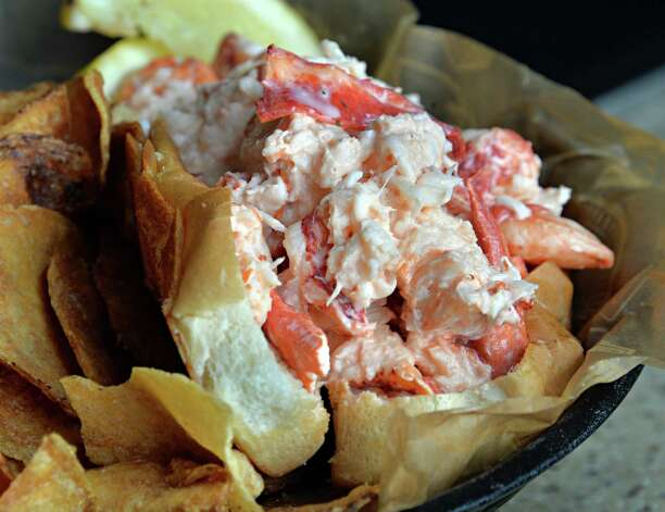 Lobster roll at Chef's Grill  inside Price Chopper's Market Bistro Friday July 25, 2014, in Colonie, NY.  (John Carl D'Annibale / Times Union) Photo: John Carl D'Annibale / 00027907A
