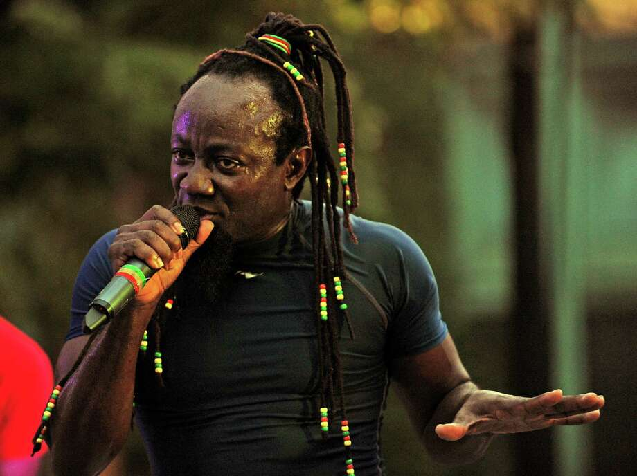 Mystic Bowie, one of Reggae's hardest working independent artists, performed at the Downtown Thursdays concert on McLevy Green in Bridgeport, Conn. on Thursday, July 31, 2014. Photo: Cathy Zuraw / Connecticut Post