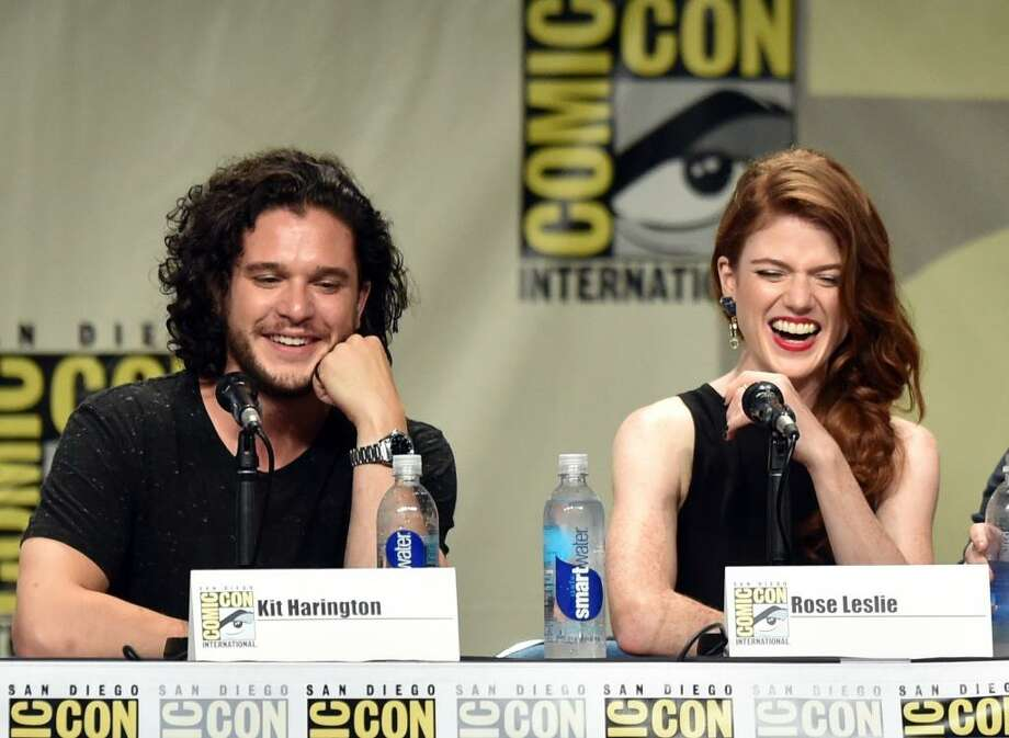 "Actors Kit Harington and Rose Leslie met on the set of HBO's ""Game of Thrones."" They dated and broke up, but are rumored to be together again. Photo: Kevin Winter, Getty Images"